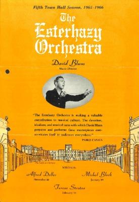 Fifth Town Hall Season: 1965-1966: The Esterhazy Orchestra